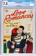 Silver Age (1956-1969):Romance, Love Romances #99 (Marvel, 1962) CGC VF- 7.5 Off-white to whitepages....