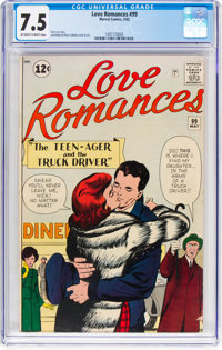 Love Romances #99 (Marvel, 1962) CGC VF- 7.5 Off-white to white pages