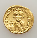 Ancients:Byzantine, Ancients: Constans II Pogonatus (AD 641-668). AV solidus (20mm,4.39 gm, 7h). VF, scratches, clipped....