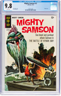 Mighty Samson #12 (Gold Key, 1967) CGC NM/MT 9.8 White pages