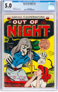 Golden Age (1938-1955):Horror, Out of the Night #13 (ACG, 1954) CGC VG/FN 5.0 Off-white to white pages....