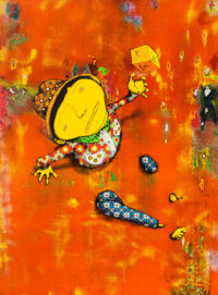 OSGEMEOS (Brazilian, b. 1974) Close Encounters, 2016 Lithograph in colors on BFK Rives paper 33-3