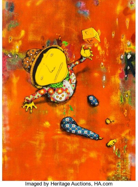 OSGEMEOS (Brazilian, b. 1974) Close Encounters, 2016 Lithograph in colors on BFK Rives paper 33-3/4 x 25-1/4 inches (...