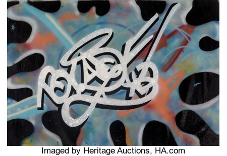 Blade (American, b. 1957)Time Warp, 1984Acrylic and spray paint on canvas52 x 72 inches (132.1 x 182.9 cm)Signed...