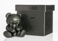 Fine Art - Sculpture, American:Contemporary (1950 to present), KAWS X Jun Takahashi. Undercover Bear Companion (Black), 2009. Cast vinyl. 6 x 5 x 4-1/4 inches (15.2 x 12.7 x 10.8 cm)...
