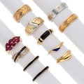 Estate Jewelry:Rings, Diamond, Multi-Stone, Gold Rings . ... (Total: 11 Items)