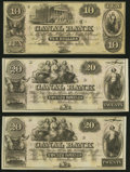 Obsoletes By State:Louisiana, New Orleans, LA- Canal Bank $10; $20 (2); $20 (4); $50 (2) 18__ Remainders Choice About Uncirculated or Better.. ... (Total: 9 notes)