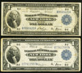 Large Size:Group Lots, Fr. 711 $1 1918 Federal Reserve Bank Note Fine-Very Fine;. Fr. 713 $1 1918 Federal Reserve Bank Note Fine-Very Fine.. ... (Total: 2 notes)