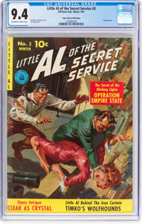 Little Al of the Secret Service #3 Mile High Pedigree (Ziff-Davis, 1951) CGC NM 9.4 Off-white to white pages