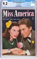 Golden Age (1938-1955):Romance, Miss America Magazine V2#1 Mile High Pedigree (Miss AmericaPublishing/Marvel/Atlas, 1945) CGC NM- 9.2 White pages....