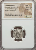 Ancients:Ancient Lots  , Ancients: ANCIENT LOTS. Roman Imperial. Caracalla (AD 198-217). Lotof two (2) AR denarii. NGC XF-Choice XF. ... (Total: 2 coins)