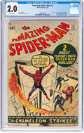 Silver Age (1956-1969):Superhero, The Amazing Spider-Man #1 (Marvel, 1963) CGC GD 2.0 Off-whitepages....