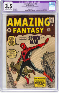 Amazing Fantasy #15 (Marvel, 1962) CGC Apparent VG- 3.5 Slight (B-1) Off-white to white pages