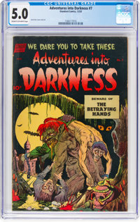 Adventures Into Darkness #7 (Standard, 1952) CGC VG/FN 5.0 Cream to off-white pages