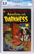 Golden Age (1938-1955):Horror, Adventures Into Darkness #8 (Standard, 1953) CGC GD+ 2.5 Cream to off-white pages....