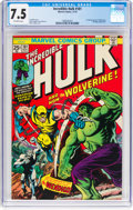 Bronze Age (1970-1979):Superhero, The Incredible Hulk #181 (Marvel, 1974) CGC VF- 7.5 Off-white pages....