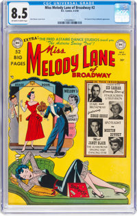 Miss Melody Lane of Broadway #2 (DC, 1950) CGC VF+ 8.5 Off-white to white pages