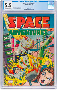 Space Adventures #1 (Charlton, 1952) CGC FN- 5.5 Cream to off-white pages
