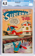 Silver Age (1956-1969):Superhero, Superman #123 (DC, 1958) CGC VG+ 4.5 Off-white pages.