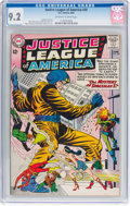 Silver Age (1956-1969):Superhero, Justice League of America #20 (DC, 1963) CGC NM- 9.2 Off-white towhite pages....