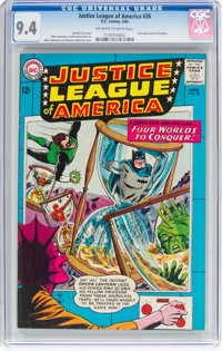 Justice League of America #26 (DC, 1964) CGC NM 9.4 Off-white to white pages