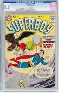 Silver Age (1956-1969):Superhero, Superboy #69 (DC, 1958) CGC VF+ 8.5 Off-white pages....