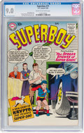 Silver Age (1956-1969):Superhero, Superboy #71 (DC, 1959) CGC VF/NM 9.0 Cream to off-white pages....