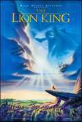 """Movie Posters:Animation, The Lion King (Buena Vista, 1994). Rolled, Very Fine+. Signed One Sheet (27"""" X 40""""). DS Advance, John Alvin Artwork. Animati..."""