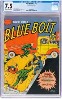 Blue Bolt V2#12 (Novelty Press, 1941) CGC VF- 7.5 Cream to off-white pages