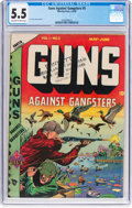 Golden Age (1938-1955):Crime, Guns Against Gangsters #5 (Novelty Press, 1949) CGC FN- 5.5 Off-white to white pages....