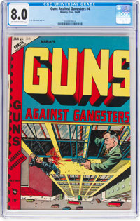 Guns Against Gangsters #4 (Novelty Press, 1949) CGC VF 8.0 Off-white to white pages