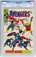 Silver Age (1956-1969):Superhero, The Avengers #58 (Marvel, 1968) CGC NM+ 9.6 White pages.