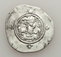 Ancients:Oriental, Ancients: SASANIAN KINGDOM. Khusrau II, First Reign (AD 590-591). AR drachm (29mm, 3.99 gm, 3h). VF....