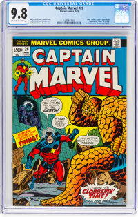 Captain Marvel #26 (Marvel, 1973) CGC NM/MT 9.8 Off-white to white pages