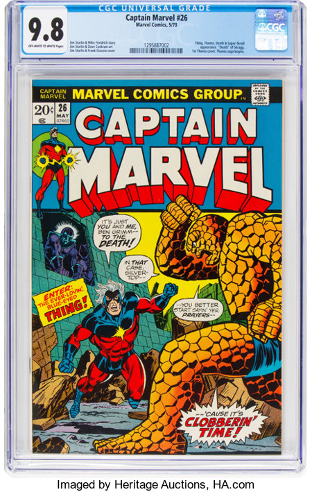 Captain Marvel #26 (Marvel, 1973) CGC NM/MT 9.8 Off-white to white pages....