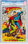 Silver Age (1956-1969):Superhero, Superman #205 (DC, 1968) CGC NM/MT 9.8 White pages....