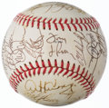 Autographs:Baseballs, 1989 American League All-Stars Team Signed Baseball, Only Missing 2Players (31 Signatures)....
