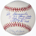 """Autographs:Baseballs, """"Game of the Week"""" Multi-Signed Baseball with Garagiola, Gowdy, & Kubek - Plus Signed Card.... (Total: 2 items)"""