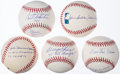 Autographs:Baseballs, Baseball Greats Single Signed Baseball Lot of 5.... (Total: 5items)