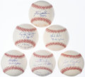 Autographs:Baseballs, Cy Young Winners Single Signed Baseball Lot of 6.... (Total: 6 items)