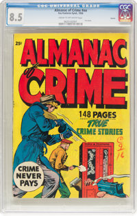 Fox Giants: Almanac of Crime #nn Aurora Pedigree (Fox Features Syndicate, 1950) CGC VF+ 8.5 Cream to off-white pages