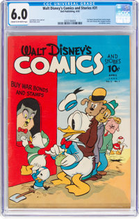 Walt Disney's Comics and Stories #31 (Dell, 1943) CGC FN 6.0 Cream to off-white pages