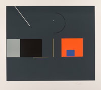 Robert Einbeck (b. 1944) Untitled VI, c. 1980 Screenprint in colors on Arches paper 27 x 30 inche