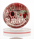 Collectible:Contemporary, Yayoi Kusama X Third Drawer Down. Women Wait for Love, 2018. Painted ceramic plate. 10-1/8 x 10-1/8 x 3/4 inches (25.7 x...