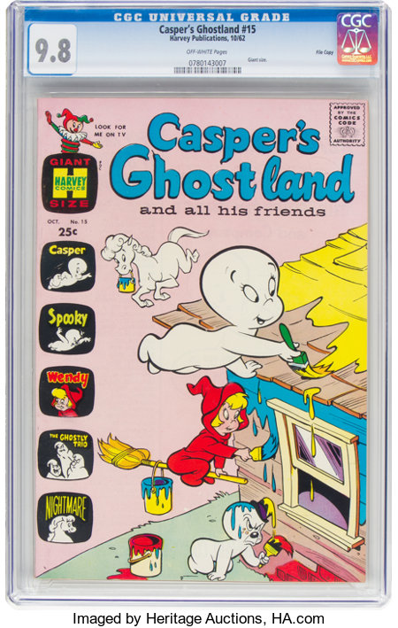 Casper's Ghostland #15 File Copy (Harvey, 1962) CGC NM/MT 9.8 Off-white pages....