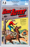 Golden Age (1938-1955):Western, Gene Autry Comics #10 Mile High Pedigree (Fawcett Publications, 1943) CGC VF- 7.5 Off-white to white pages....