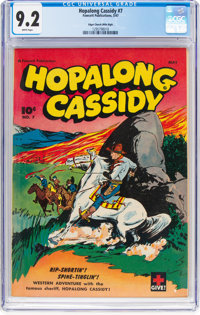 Hopalong Cassidy #7 Mile High Pedigree (Fawcett Publications, 1947) CGC NM- 9.2 White pages