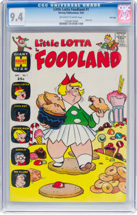 Little Lotta Foodland #1 File Copy (Harvey, 1963) CGC NM 9.4 Off-white to white pages