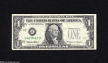 Error Notes:Foldovers, Fr. 1925-J $1 1999 Federal Reserve Note. Very Fine. A largefoldover has produced a partial printing of the Treasury Seal on...