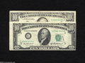 Error Notes:Error Group Lots, Two Errors on Tens. Fr. 2012-C $10 1950B Federal Reserve Note. VF, ink spot Fr. 2026-A $10 1981A Federal Reserve Note. Fin... (2 notes)